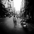 Monk Saigon Vietnam by Steve Lovegrove