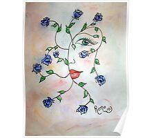 Rambling Rose Blues Poster