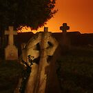 Spooky Grave Yard At Night by Nick Martin