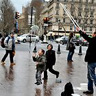 Joyful Bubbles on a Paris Street Corner by kweirich