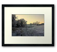 Town Lake - Frozen  Framed Print