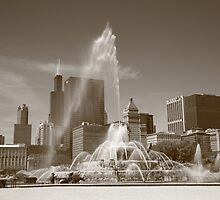 Chicago in Sepia by Frank Romeo