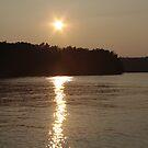 Evening Lake Sunset by NervousNellie