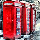 Three Telephone Boxes by Karen Martin IPA