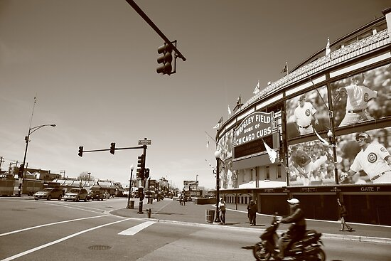 Wrigley Field - Chicago Cubs by Frank Romeo
