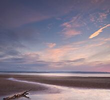 Evening on Burnham Beach by Robin Whalley