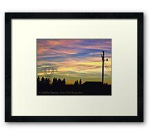 Nightfall Brings Beauty Framed Print