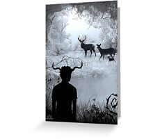 Imbolc - The Horned God Greeting Card