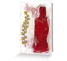 woman in red - redux Greeting Card