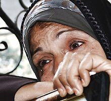 Mother of the Palestinian Prisoner  by shady alassar