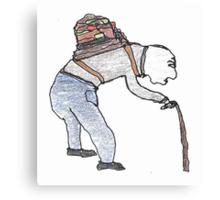 old man burden Canvas Print
