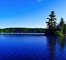 Canadian Island Lake Outside Montreal by justkeating