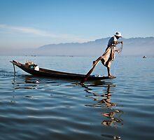 Fishing on Inle Lake  by PhotAsia