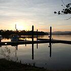 Sleepy Dawn - Johnstone River Moorings, Innisfail, Far North Queensland.  by Kerryn Madsen-Pietsch