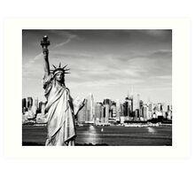 New York City Skyline in Black and White Art Print