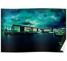 Queens Wharf, Wellington - New Zealand Poster