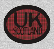 uk scotland tshirt with tartan background by ian rogers by unitedkingdom