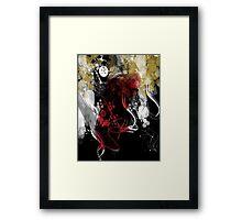 woman in the wind dark version Framed Print