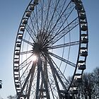Ferris Wheel with Sun behind, Chester by stevenw888