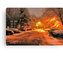 """A Snowy Evening in Knoxville"" (a series, no.1) Canvas Print"