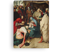 The Adoration of the Kings, 1564 by Bruegel Canvas Print
