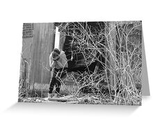 He Lied and I cant forget it...or forgive him. Greeting Card