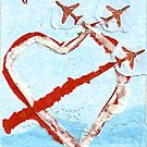 Red Arrows Valentines Card by Blackbird76