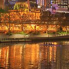 Melbourne by Night by aussiedi