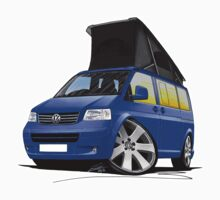 Volkswagen T5 California Camper Van Blue by Richard Yeomans