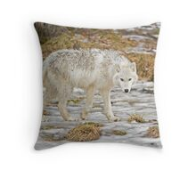 Wolf Walk Throw Pillow