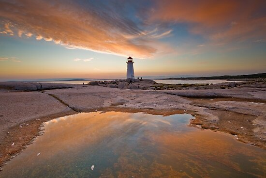 Peggy's Cove Sunset by NovaScOcean