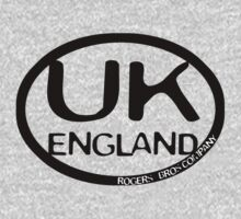 uk england tshirt by rogers bros by ukengland