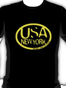 usa new york tshirt yellow by rogers bros co T-Shirt