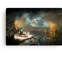 The Carnival Is Over - Sydney New Years Eve 2010 Canvas Print