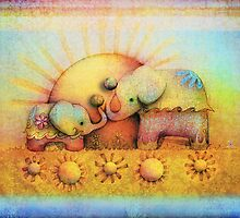 rainbow elephant blessing by Karin  Taylor