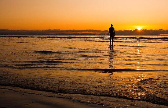 Sunset over Crosby beach by Shaun Whiteman