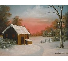 Cabin in the Snow Photographic Print