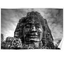 Bayon, Siem Reap, Cambodia Poster
