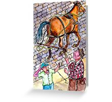 Runaway Horse Greeting Card