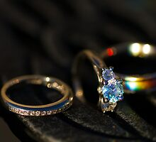 Engagement Ring and Wedding Bands by Mark Van Scyoc
