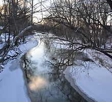 White River in Winter- Selma Indiana by mltrue
