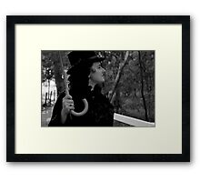 Profile of a Lady Framed Print
