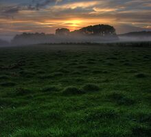 Sunrise over Chelsworth Common by Christopher Cullen