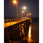 'Moonrise over jetty', Point Turton S.A. by Steph Ball