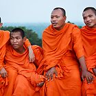Khmer monks  by thesiracusas