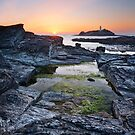 Godrevy Sunset by Michael Breitung