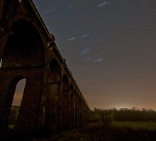 Balcombe Viaduct at Night with Startrails by Eddie Howland