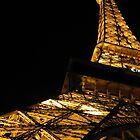 Vegas Eiffel By Night by Susan Bergstrom