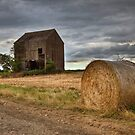 Barn and Hay Bale .... in kent countryside. by brimo