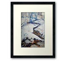 Trail in Snow Framed Print